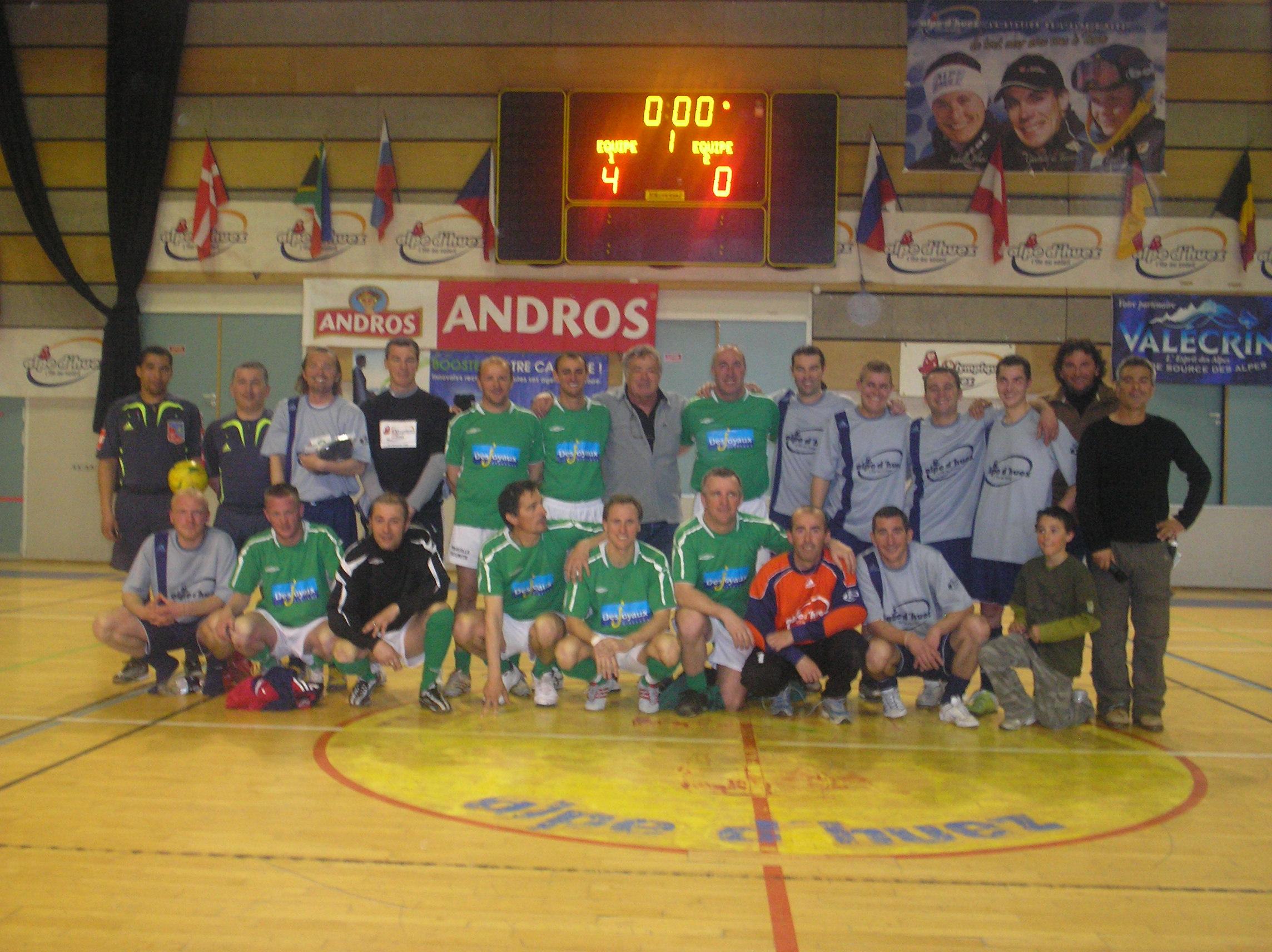 victoire des Anciens Verts au Mundialito 2008 de l'Alpe d'Huez